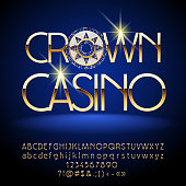Crown Casino Emblem. Set of Letters, Numbers and Symbols