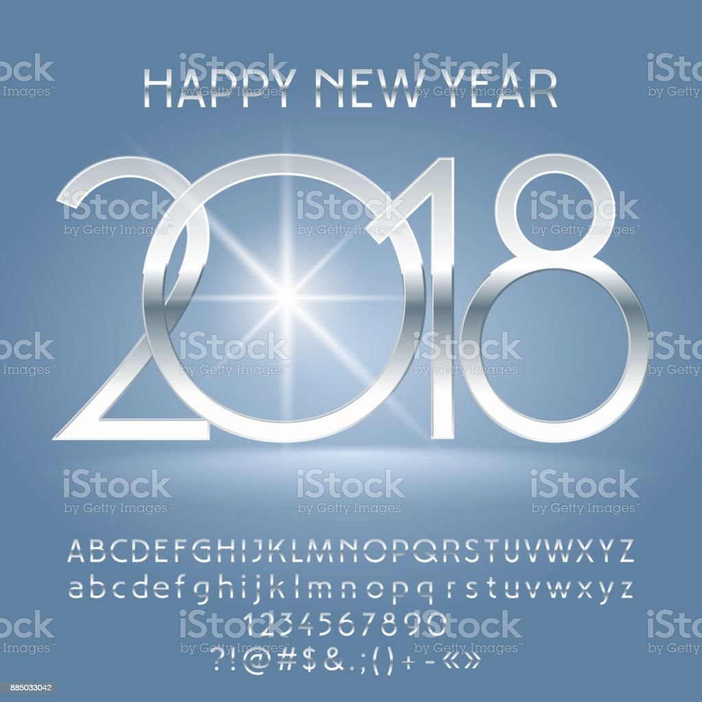 vector luxury happy new year 2018 greeting card with alphabet royalty free vector luxury happy