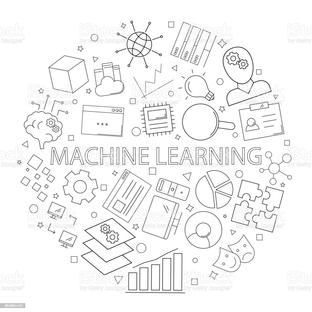 Vector machine learning pattern with word. Machine learning background royalty-free vector machine learning pattern with word machine learning background stock vector art & more images of abstract