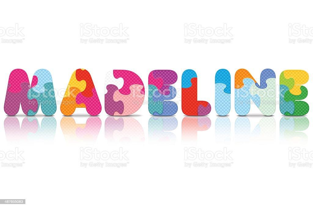 Ilustración de Vector Alfabeto Madeline Escrito Con Rompecabezas y ...