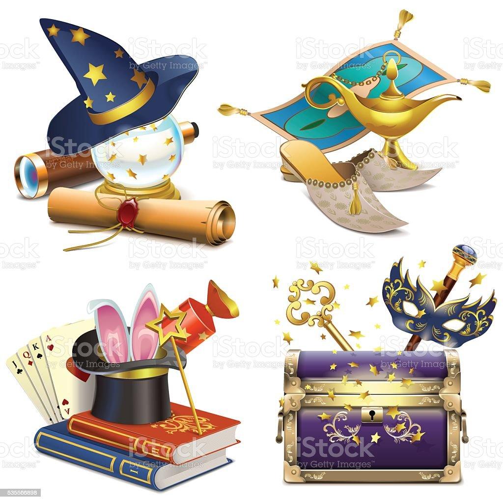 Vector Magic Concept Icons vector art illustration