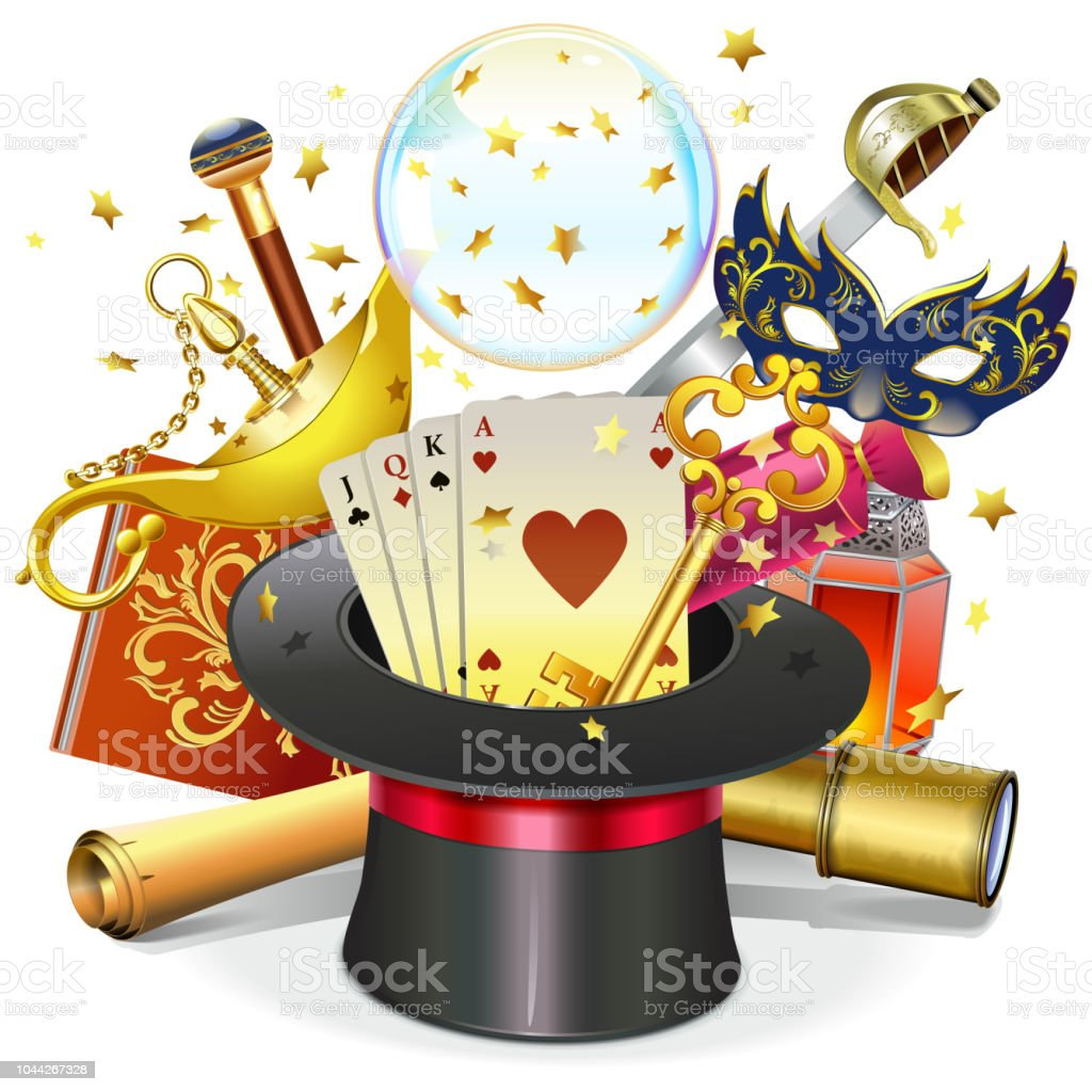 vector magic concept with hat stock vector art more images of ace