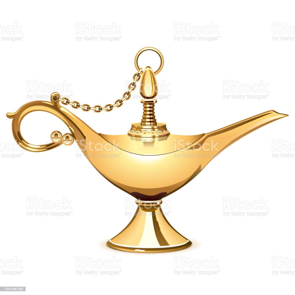 Vector Magic Golden Lamp vector art illustration