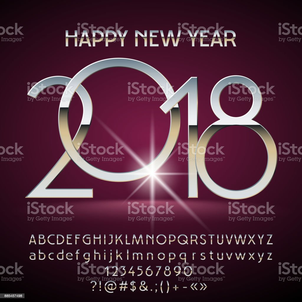 Vector magic happy new year 2018 greeting card with alphabet stock vector magic happy new year 2018 greeting card with alphabet royalty free vector magic happy kristyandbryce Images