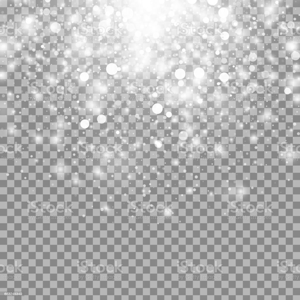 Vector magic white glow light effect vector art illustration