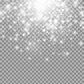 Vector magic white glow light effect