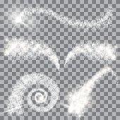 Vector magical glitter stars set