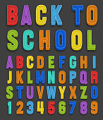 Vector magnets alphabet numbers font