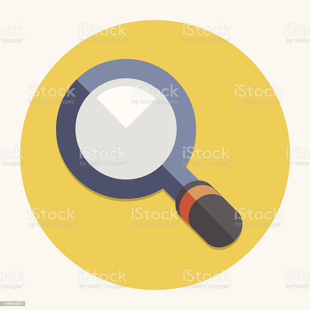 Vector magnifying glass icon vector art illustration