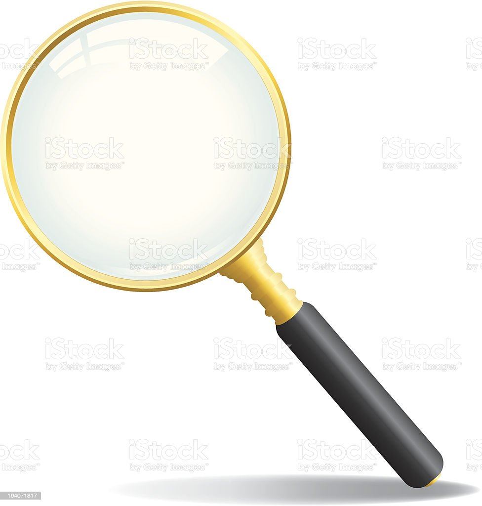 Vector Magnifying Glass royalty-free stock vector art