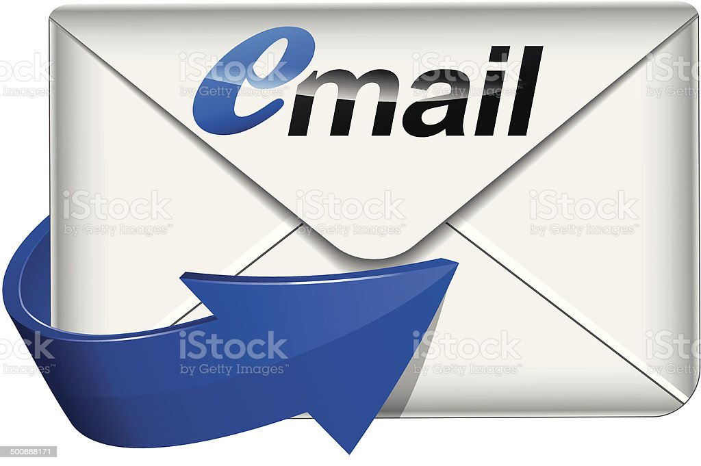 Vector mail icon vector art illustration
