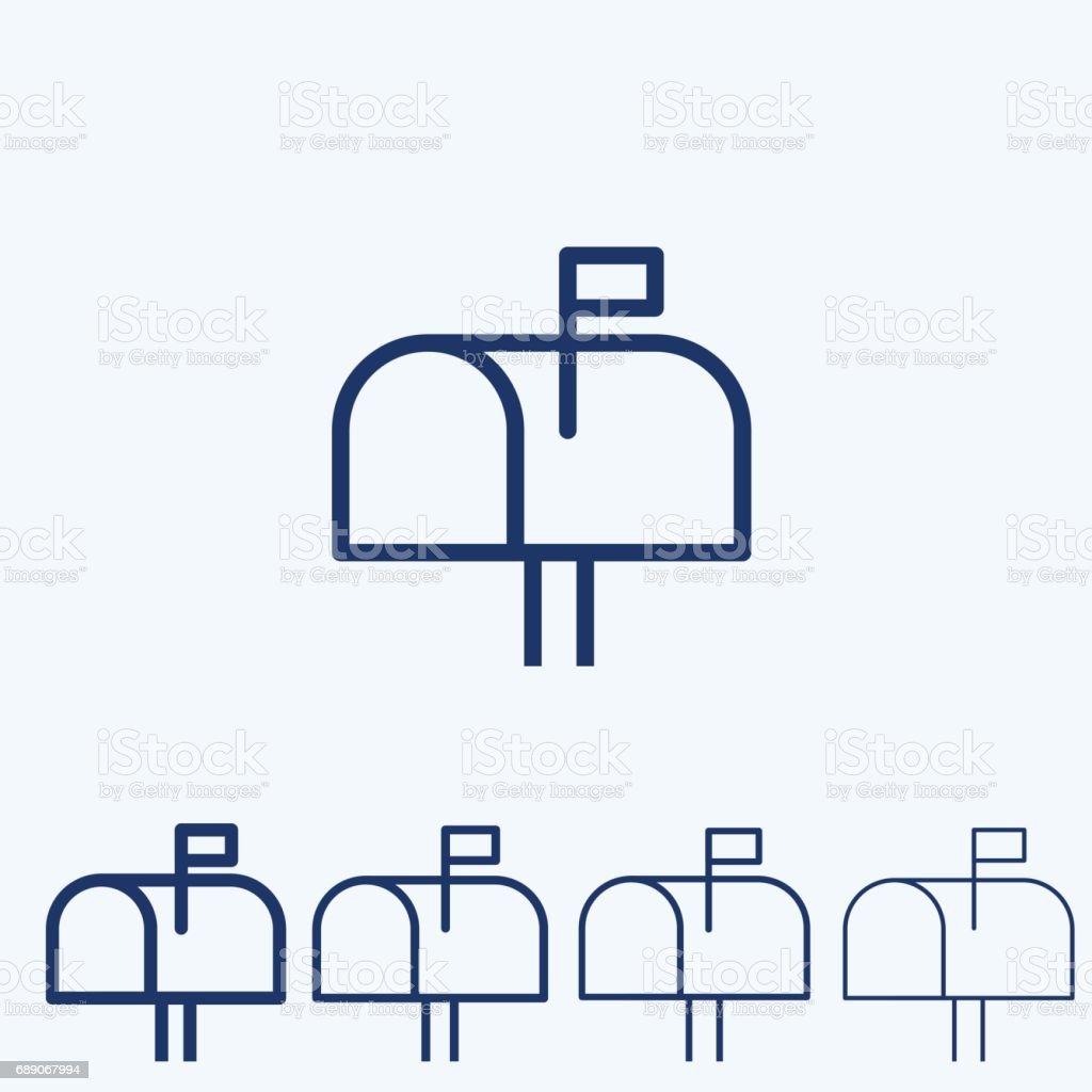 Vektor-Briefkasten Symbol – Vektorgrafik