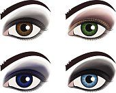Vector make up eye set