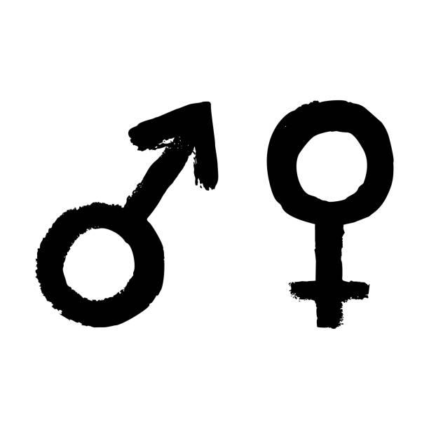illustrations, cliparts, dessins animés et icônes de icône signe vecteur homme et femme. symbole de féminité, mâle et femelle - personnes masculines