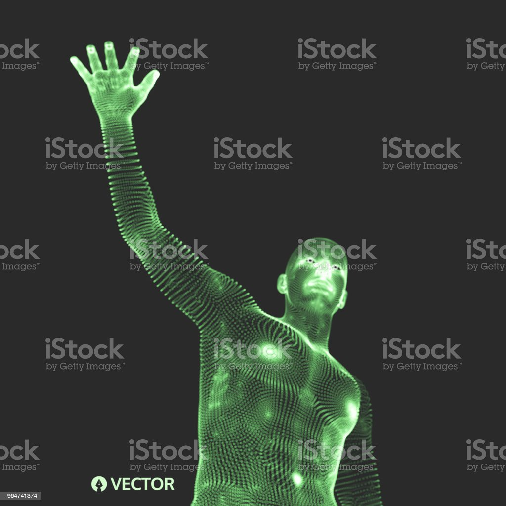Vector man with hand up to stop. Human showing stop gesture. 3D model of man. 3D vector illustration. royalty-free vector man with hand up to stop human showing stop gesture 3d model of man 3d vector illustration stock vector art & more images of adult
