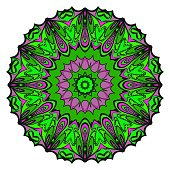 Vector mandala, Floral mandala. Oriental mandala. Vintage decorative elements. Vector illustration. It is super vector illustration.