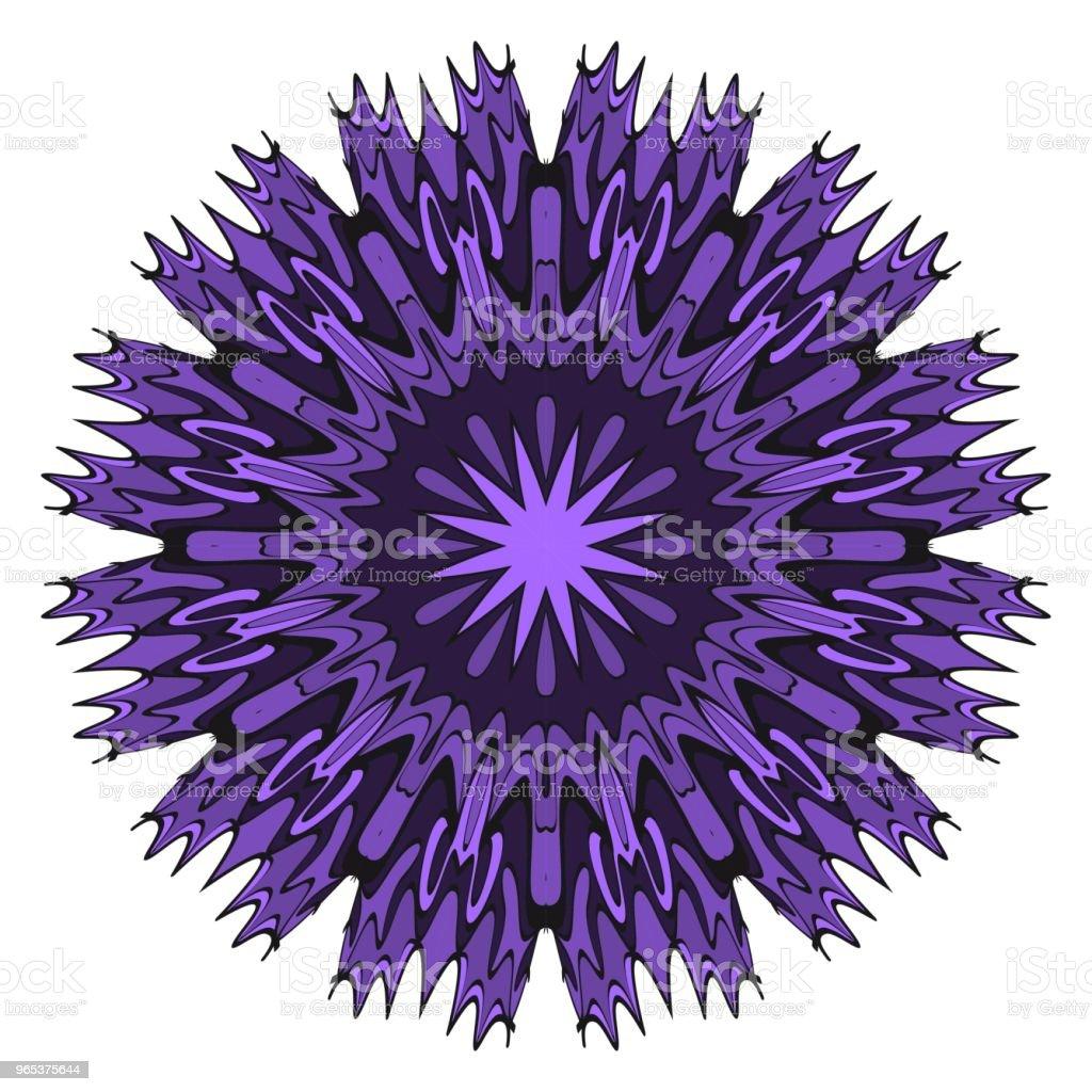 向量曼荼羅, 花曼荼羅。東方曼荼羅。復古裝飾元素。向量插圖。它是超級向量插圖。 - 免版稅伊斯蘭教圖庫向量圖形