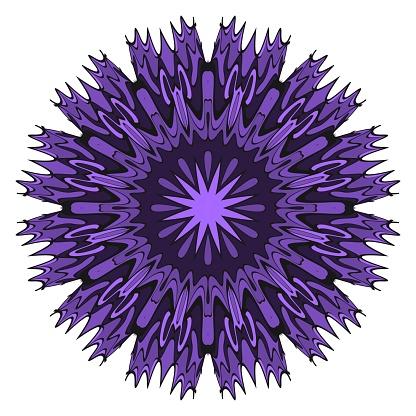 向量曼荼羅 花曼荼羅東方曼荼羅復古裝飾元素向量插圖它是超級向量插圖向量圖形及更多伊斯蘭教圖片