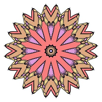 벡터 만다라 꽃 만다라 동양 만다라입니다 빈티지 장식 요소입니다 벡터 일러스트입니다 그것은 슈퍼 벡터 일러스트 레이 션입니다 꽃-식물에 대한 스톡 벡터 아트 및 기타 이미지