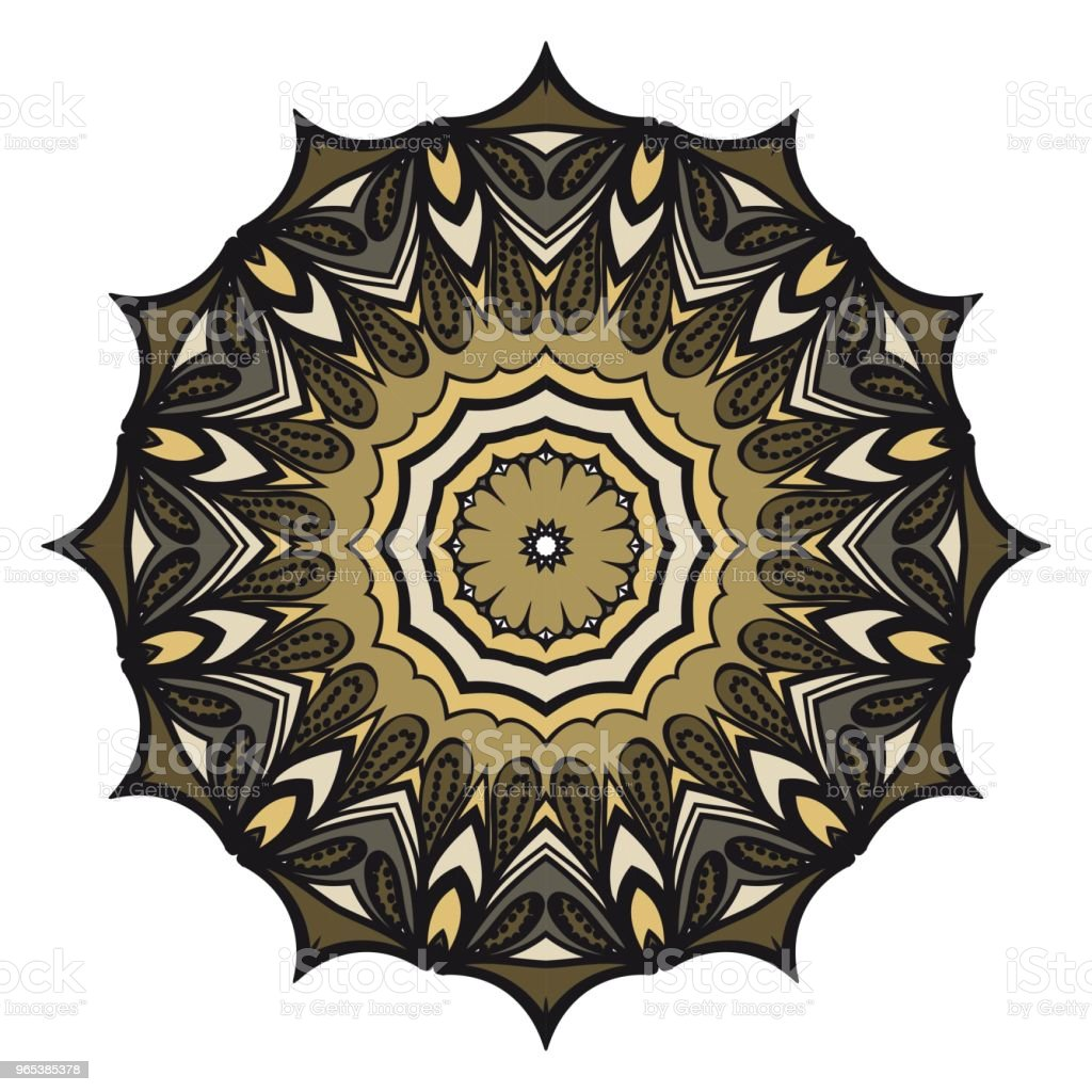 Mandala de vecteur, mandala Floral. Mandala oriental. Éléments de décoration vintage. Illustration vectorielle. C'est super vector illustration. - clipart vectoriel de Abstrait libre de droits