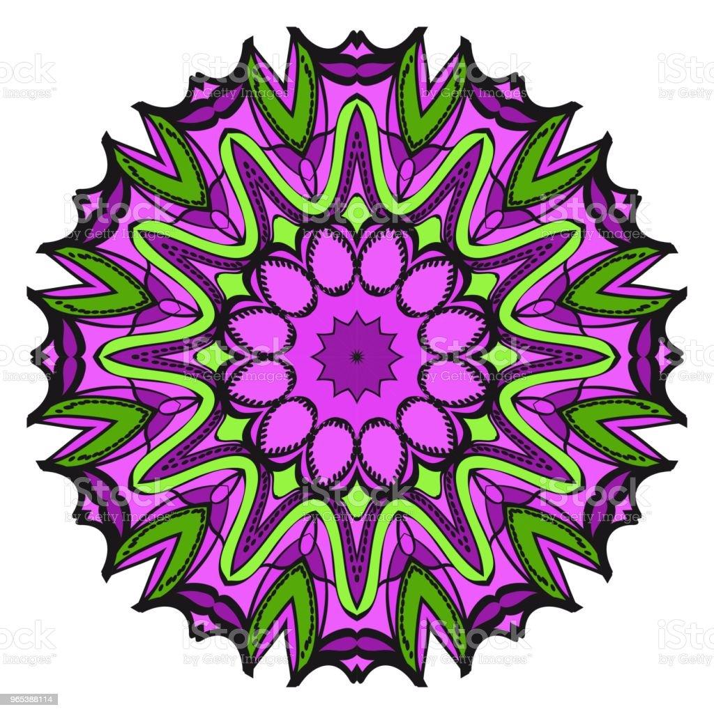 벡터 만다라 꽃 만다라 동양 만다라입니다. 빈티지 장식 요소입니다. 벡터 일러스트입니다. 그것은 슈퍼 벡터 일러스트 레이 션입니다. - 로열티 프리 꽃-식물 벡터 아트