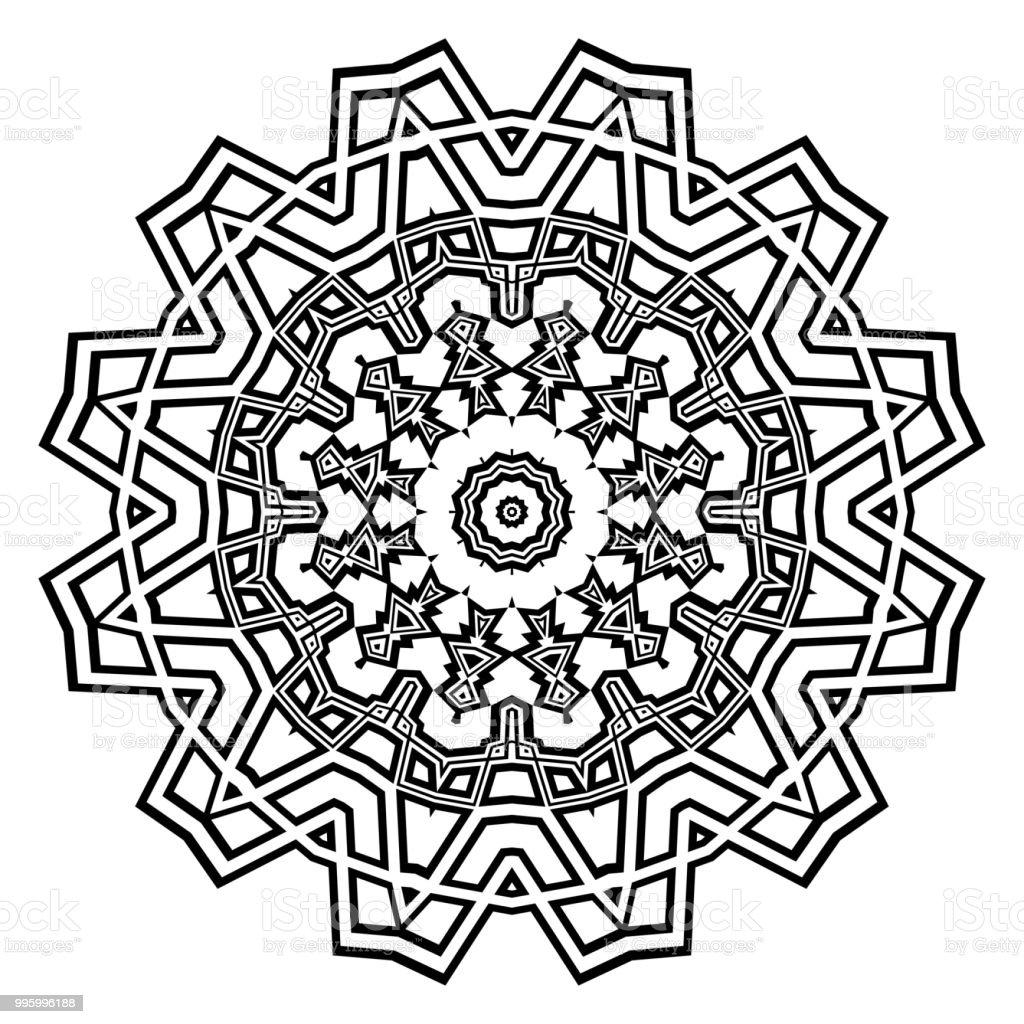 Vektormandala Floral Mandala Orientalische Mandalas Vintage ...
