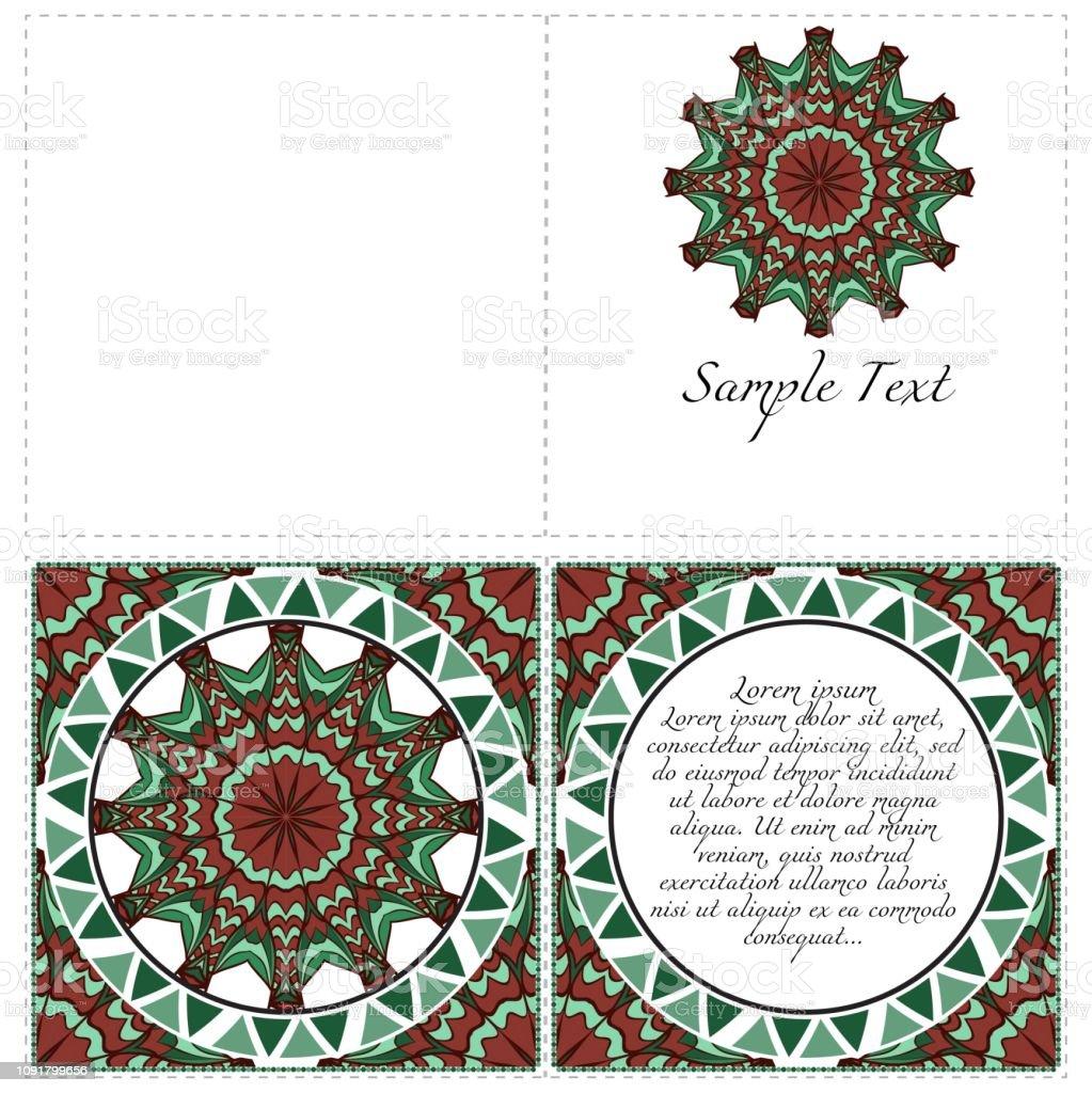 Modele De Mandala Vecteur Pour Flyer Ou Carton Dinvitation