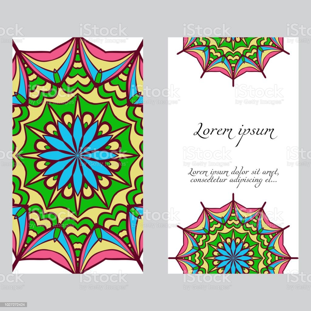 Vector Mandala Pattern Two Template For Flyer Or Invitation Card