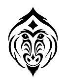 tattoo sketch baboon t-shirt print template