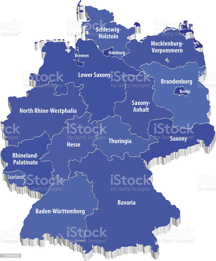 Vector map o Germany vector art illustration