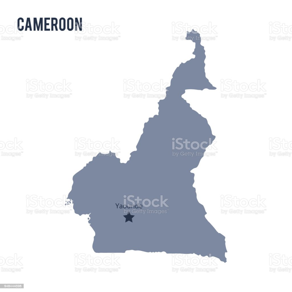 Vector Map Of Cameroon Isolated On White Background Stock Vector Art ...