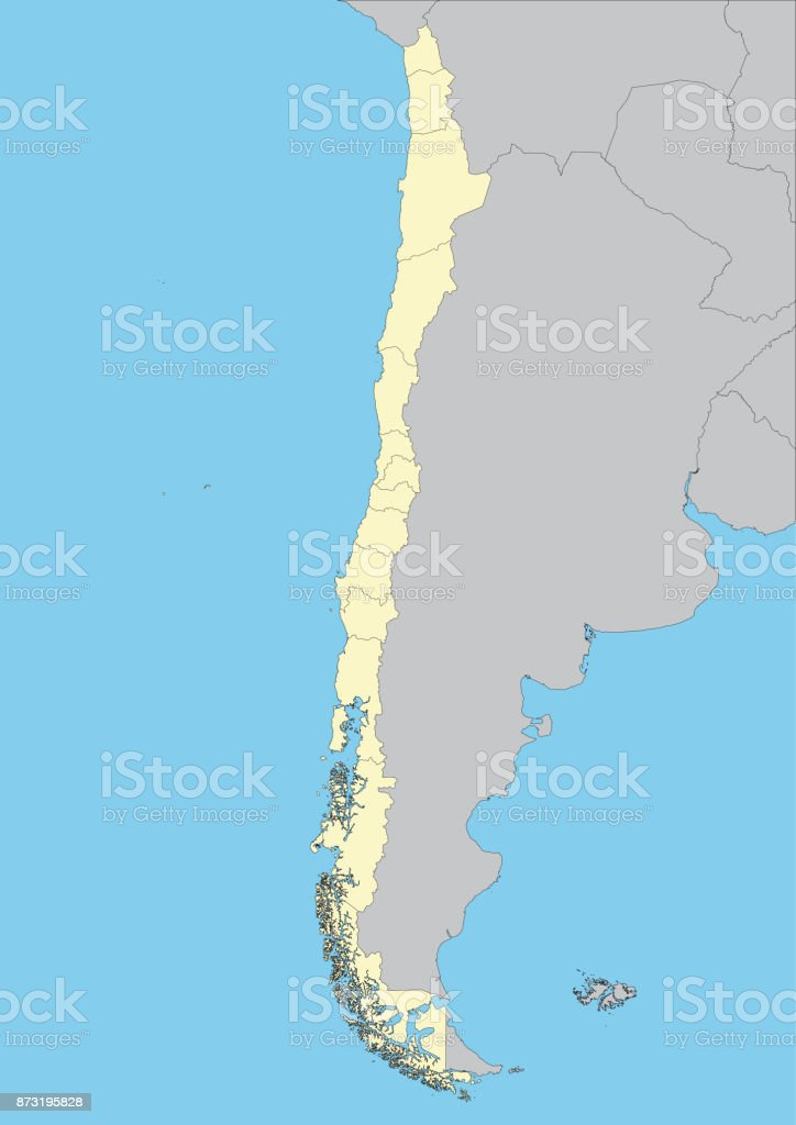 Vector map of Chile vector art illustration