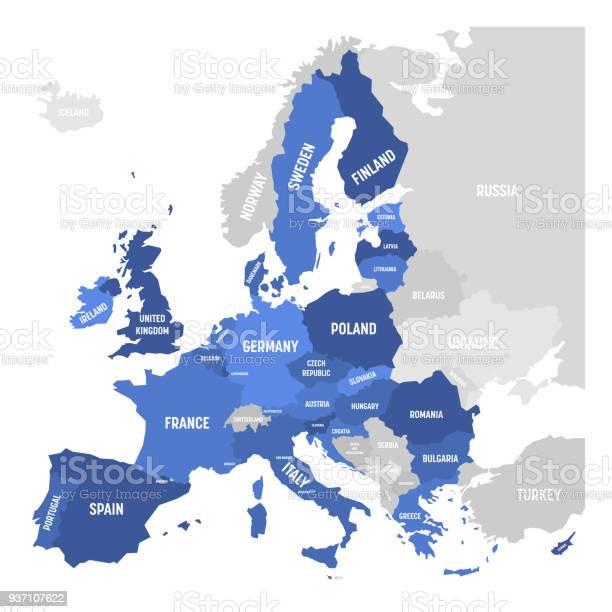 Vector map of EU, European Union