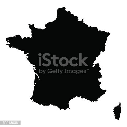 vector map of France  with high details