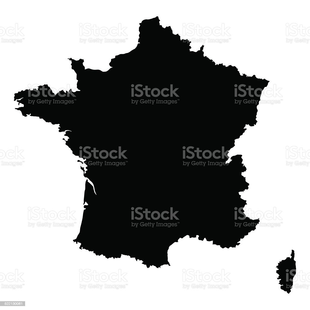 vector map of France vector art illustration
