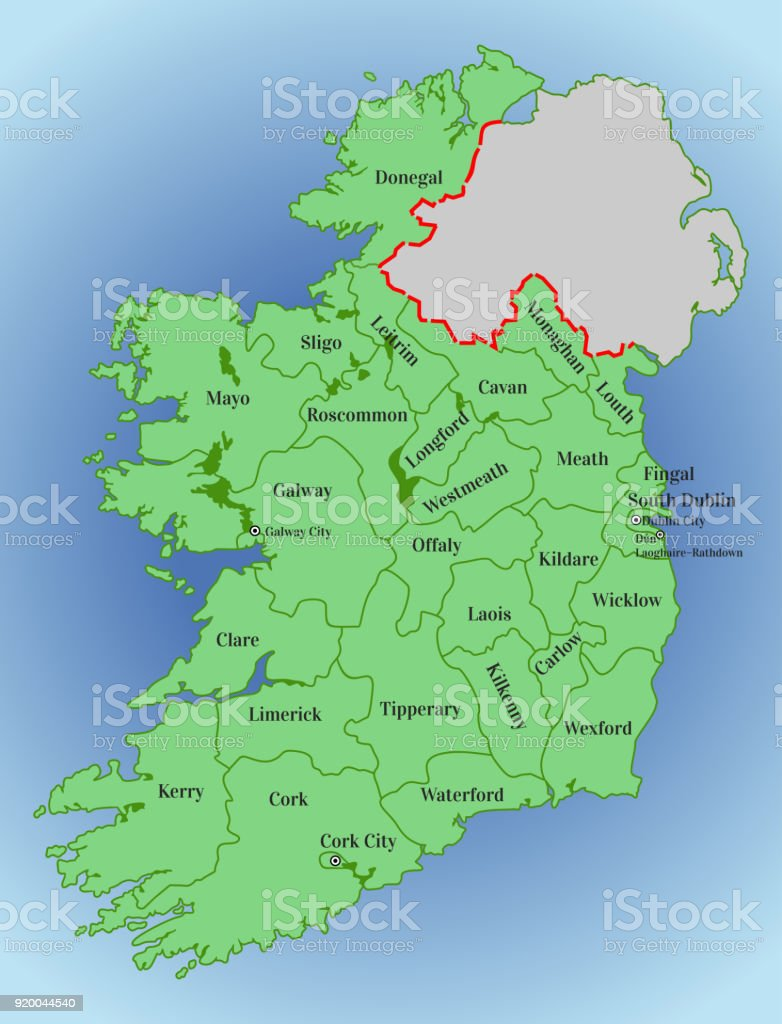 Vector Map Of Ireland Stock Illustration Download Image Now Istock