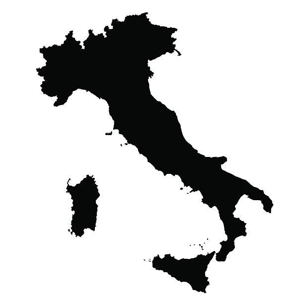 vektor karte von italien - italien stock-grafiken, -clipart, -cartoons und -symbole