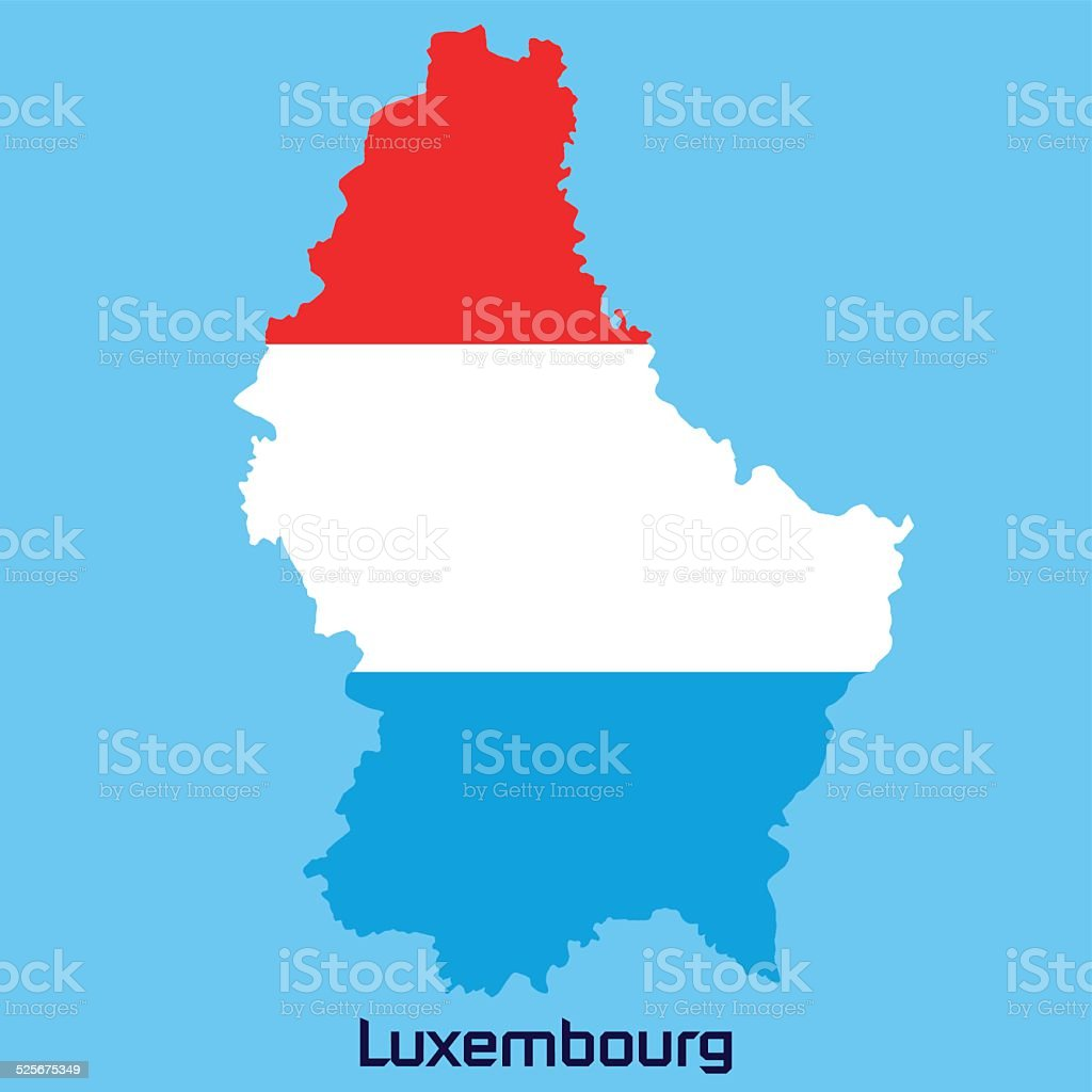 vector map of Luxembourg vector art illustration