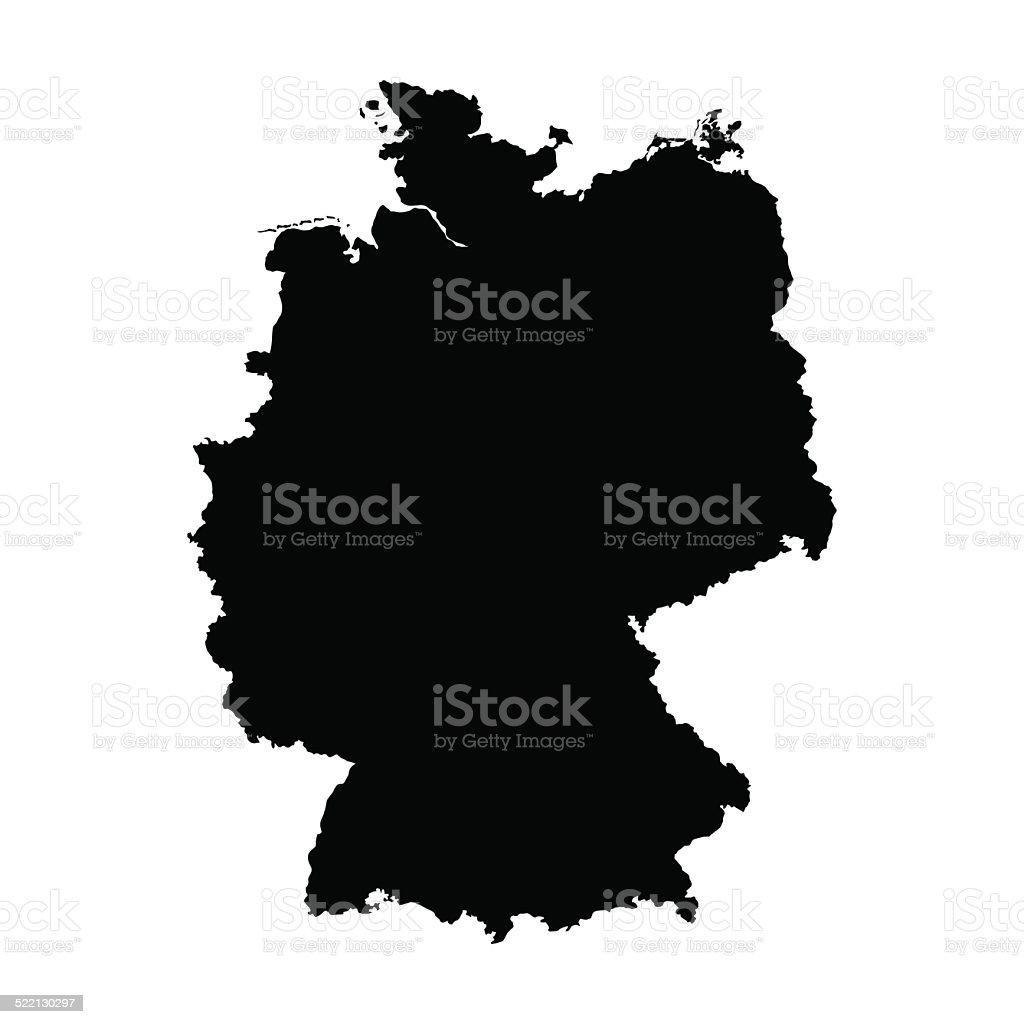 Vetor Mapa do mapa da Alemanha - ilustração de arte em vetor