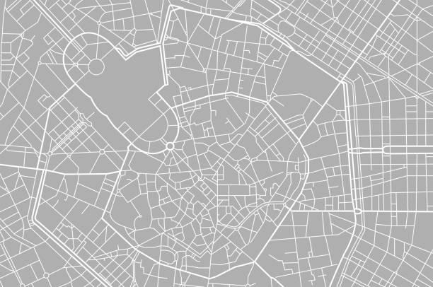 illustrazioni stock, clip art, cartoni animati e icone di tendenza di vector map of milan. - milan