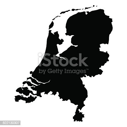 vector map of Netherlands  with high details