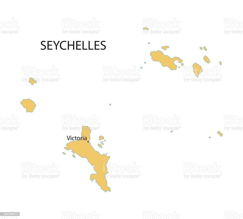 vector map of Seychelles vector art illustration