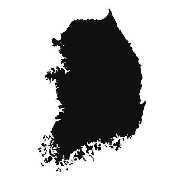 stockillustraties, clipart, cartoons en iconen met vector map of south korea - zuid korea