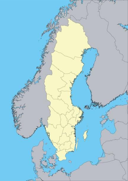 Blekinge Län Clip Art Vector Images Illustrations IStock - Sweden map län