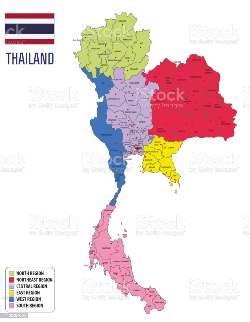 Vector Map Of Thailand Stock Illustration - Download Image Now