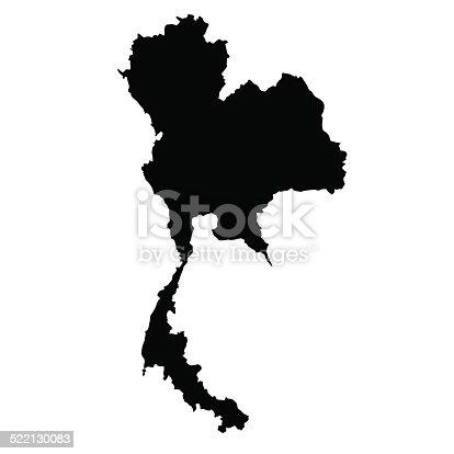 istock vector map of Thailand 522130083