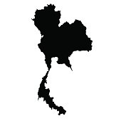 vector map of Thailand