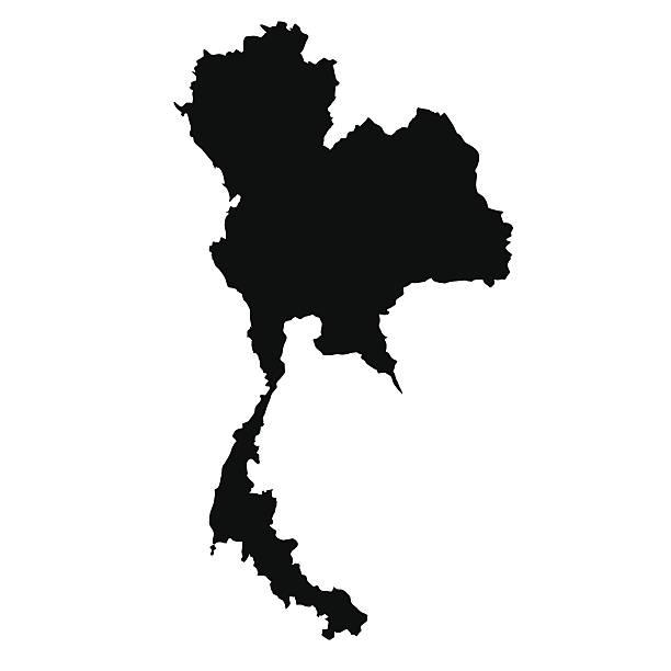 wektor mapę z tajlandii - tajlandia stock illustrations