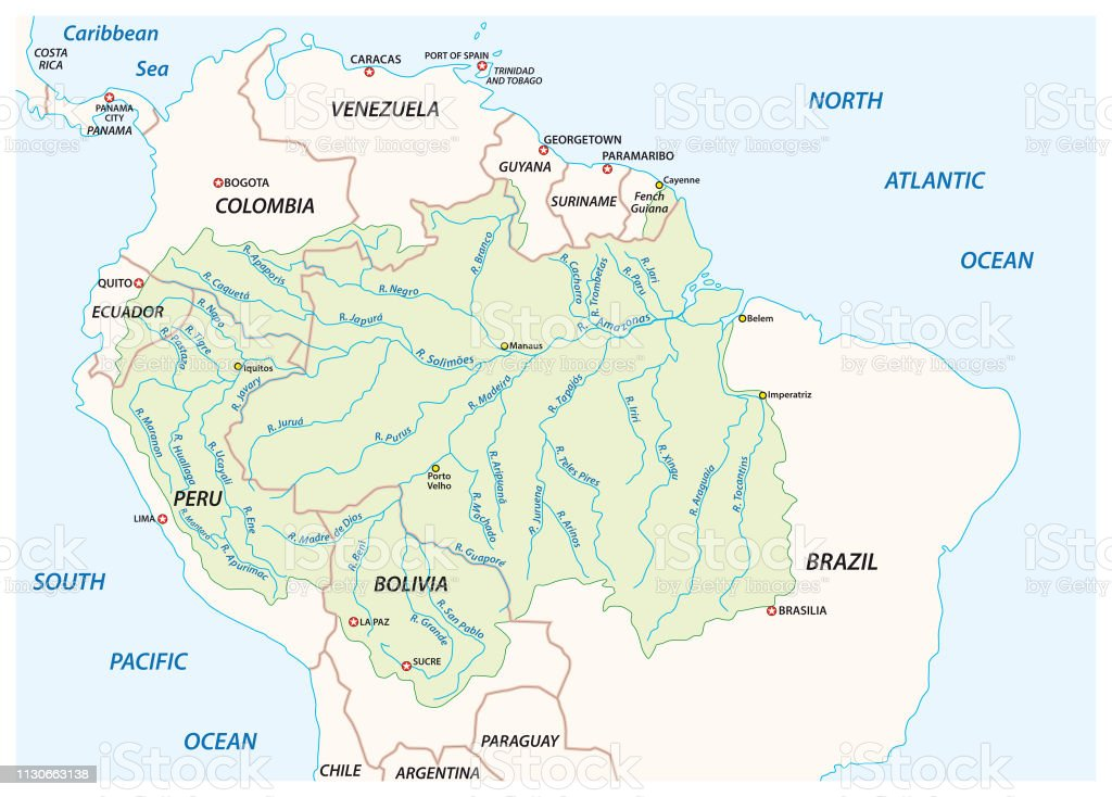 fleuve amazone carte