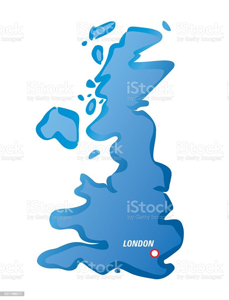 Map Of England 2015.Vector Map Of Uk And London Stock Illustration Download Image Now